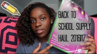Back To School Supplies Haul 2016-17