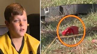 A Boy Goes Viral after He Spots a Strange Shape under a Bridge