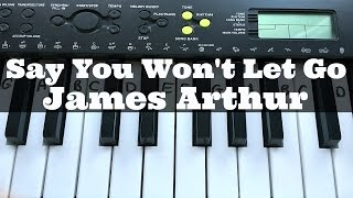 Say You Won't Let Go - James Arthur | Easy Keyboard Tutorial With Notes (Right Hand)