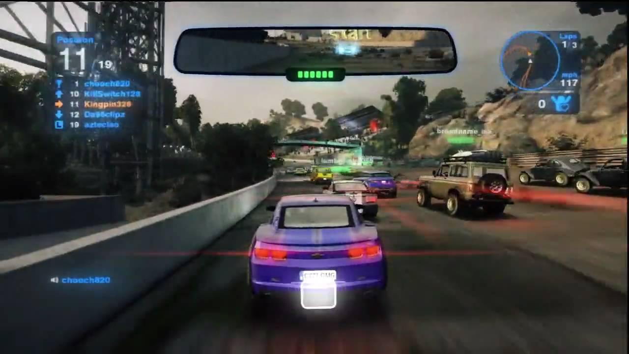 blur ps3 online racing gameplay youtube