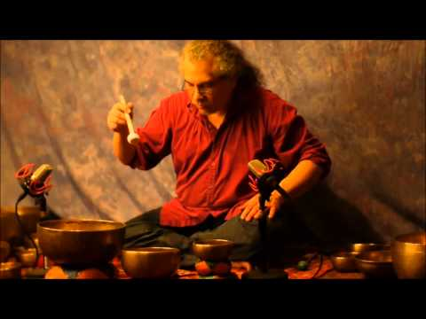 10 min Chakra Meditation Series~Note G~5th ~Throat Chakra with Tibetan Singing Bowls~No Vocals
