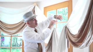 Curtain Scrolls For Bay Windows: Elegant Window Treatment Idea | Galaxy-design Video #112