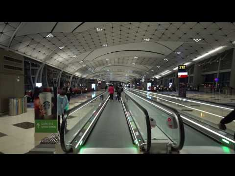 Hong Kong International Airport, walking around