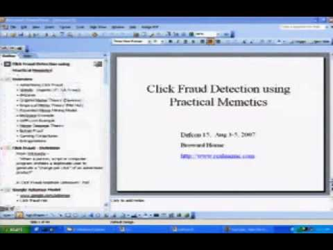 DEF CON 15 - Broward Horne - Click Fraud Detection with practical Memetics