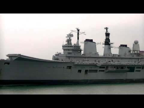 HMS Ark Royal Leaving Portsmouth for the Last time.20th May 2013