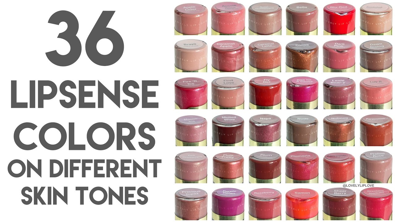 36 Close Up Lipsense Colors On Different Skin Tones And