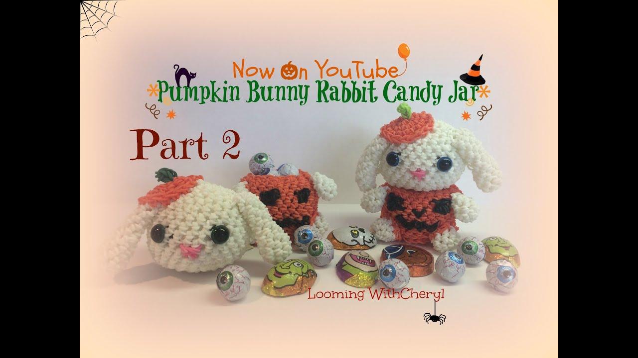 Amigurumi Lalylala : Rainbow Loom Pumpkin Bunny/Rabbit Part 2 of 2 ...
