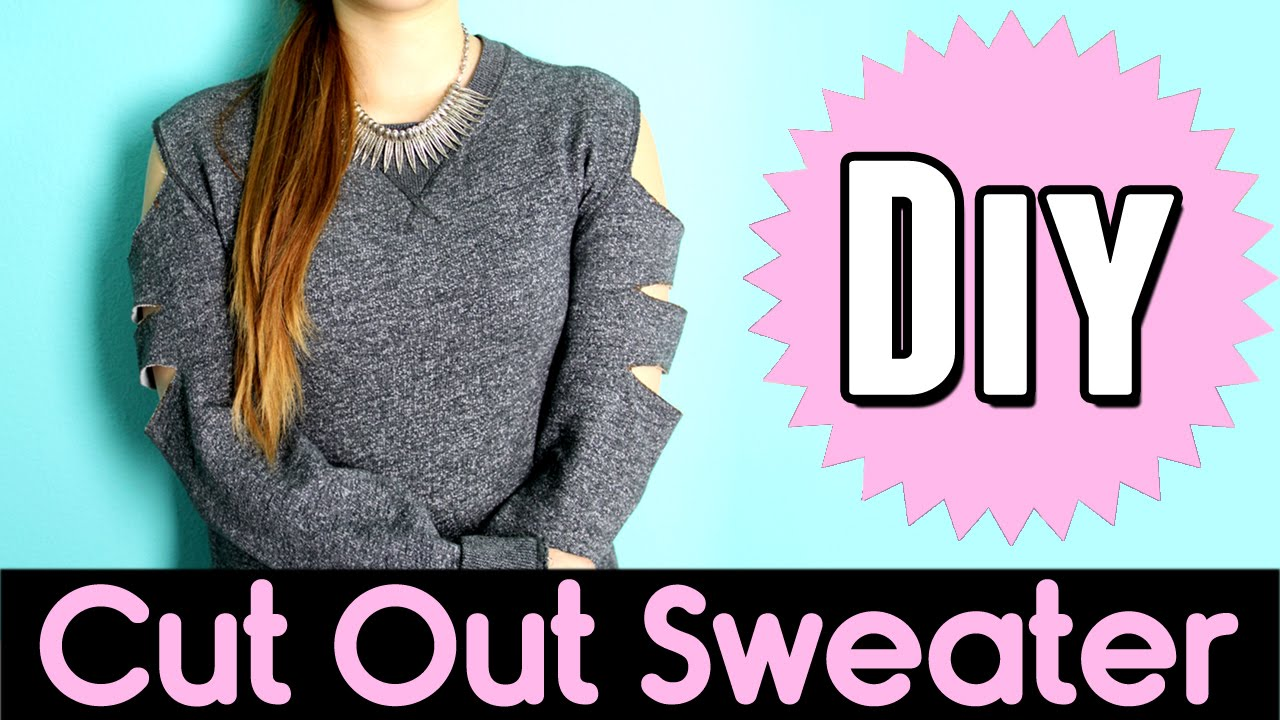 how to cut alter a sweater