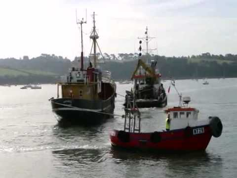 First ship into Richmond Dry Dock, Appledore, 6 Sep 2012