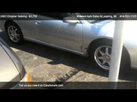 2003 Chrysler Sebring LXi - for sale in Milwaukee, WI 53210