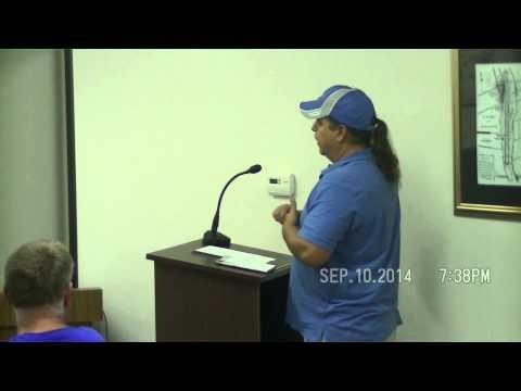 September 10, 2014 Cottrellville Twp Board meeting - 9/10/2014