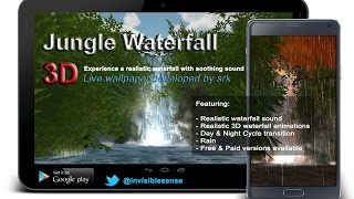 Jungle Waterfall 3D Live Wallpaper