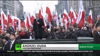 Polish President Marches with Nazis in Warsaw