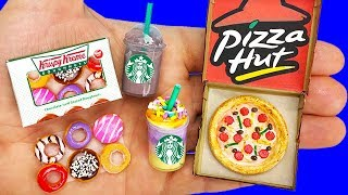 9 DIY MINIATURE FAST FOOD REALISTIC HACKS AND CRAFTS !!!!
