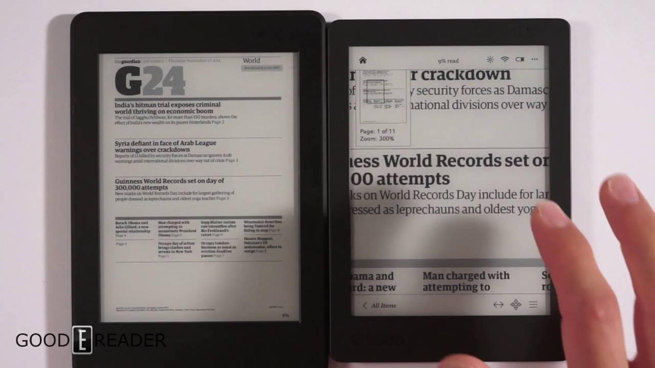 Kobo Aura Edition 2 Vs Kindle Paperwhite 3 Comparison