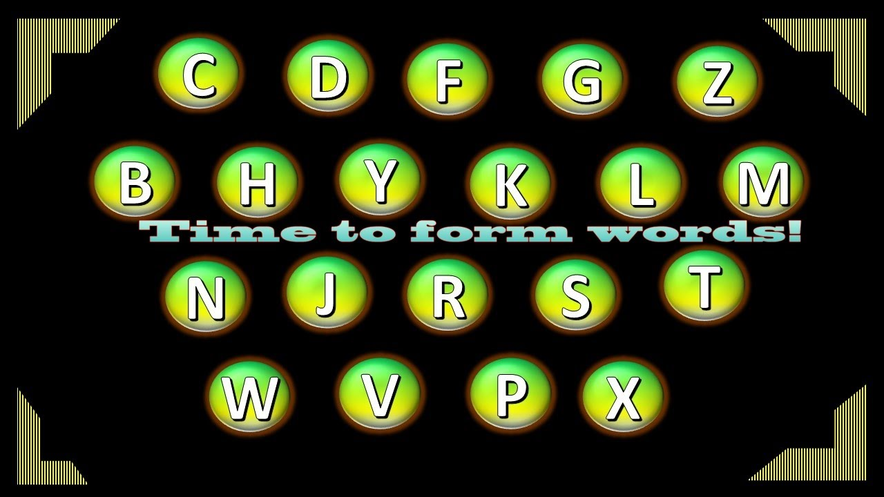 WORD GAME | MAKE WORDS FROM LETTERS | FORM WORDS