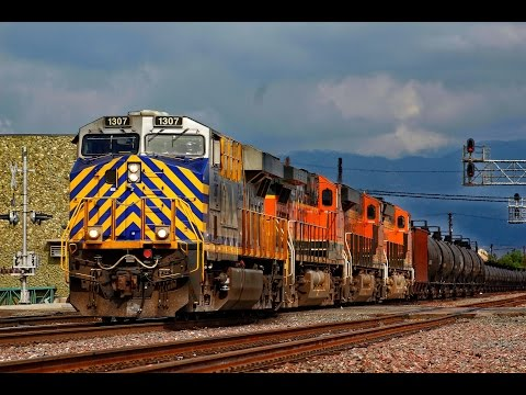 Trains on the BNSF San Bernardino Sub