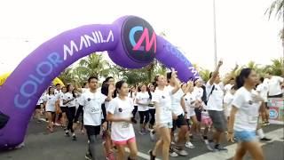 COLOR MANILA Glitter Run 2017. SM Mall of Asia