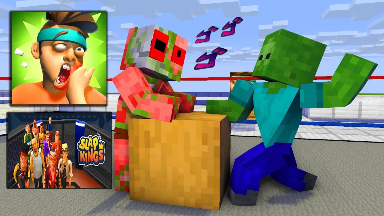 MONSTER SCHOOL : SLAP KINGS CHALLENGE - Minecraft Animation