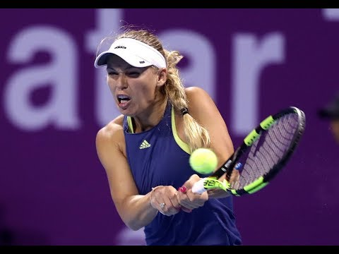 2018 Qatar Total Open Third Round | Caroline Wozniacki vs. Monica Niculescu | WTA Highlights