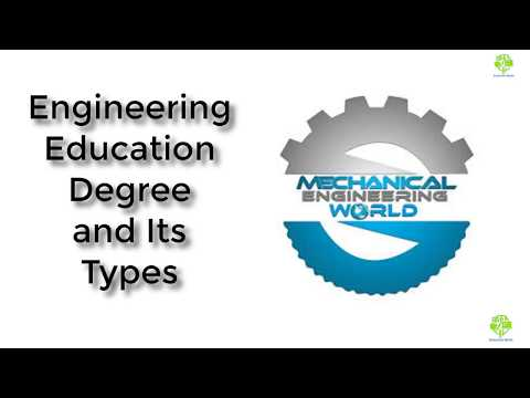 Engineering Education Degree and Its Types