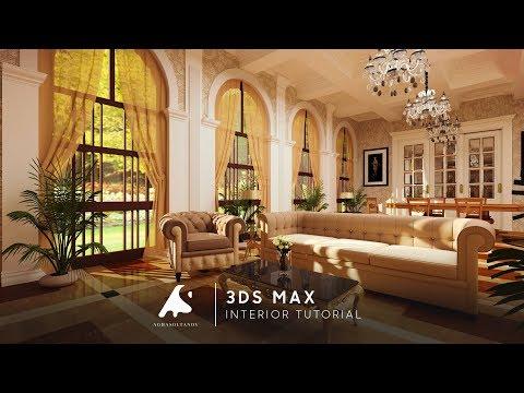 3Ds Max Classic Interior Tutorial Modeling 2016 Vray Design