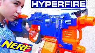 Nerf N-Strike Elite HyperFire Blaster with Robert-Andre!