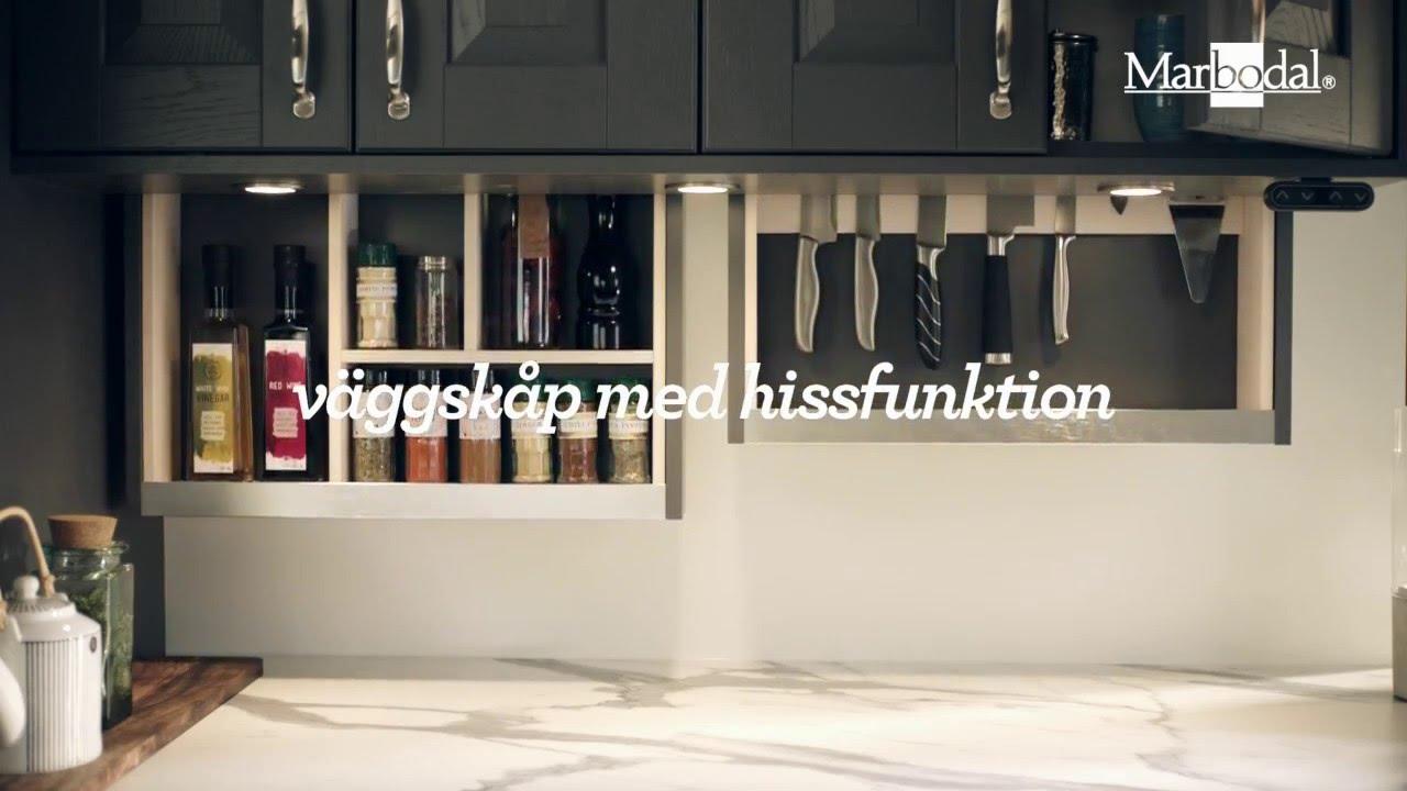 Marbodal   väggskåp med hissfunktion   youtube