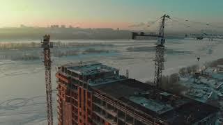 Жилой дом Марсель Новосибирск зима 2019
