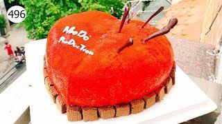 chocolate cake decorating heart (496) Học Làm Bánh Kem Trái Tim (496)