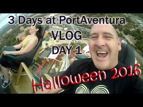 PortAventura World VLOG Halloween 2016 [Day 1 of 3]