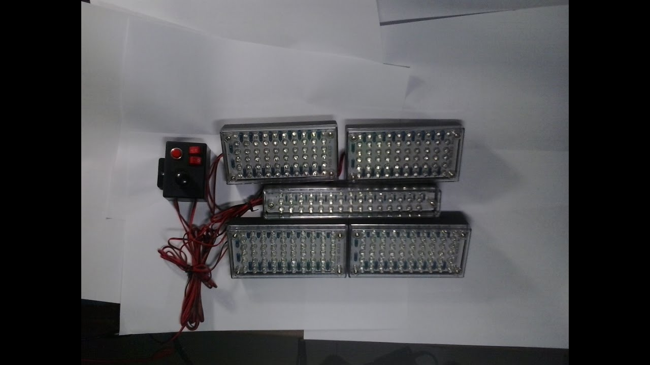 Lampu Strobo Patwal Strobe Polisi Police 60 45 Led Box 7 Mode Murah Flash Variasi Motor Mobil Day Light 3013 Kuning