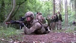 Afsluttende øvelse for soldaterne til Irak