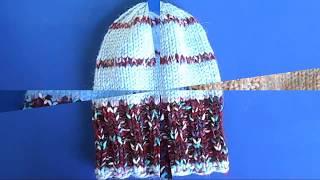 Две шапочки одним узором - Схема вязания спицами