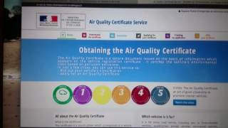 France air quality certificate