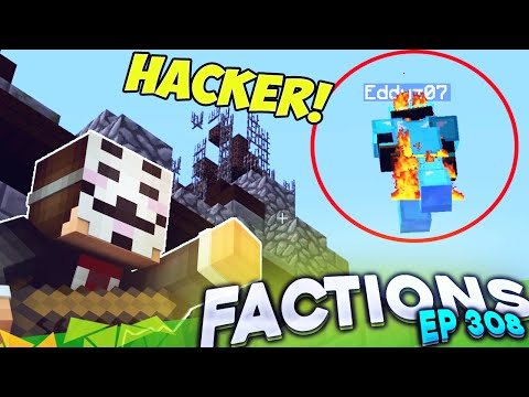 Minecraft Factions #308 - Fly HACKER!!  (Minecraft Raiding)