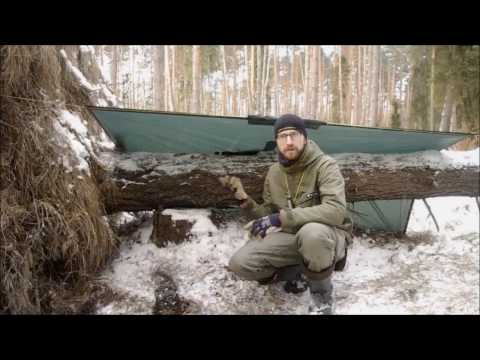 Minimal Gear Solo Winter Overnighter -12'C - Bushcraft and Survival