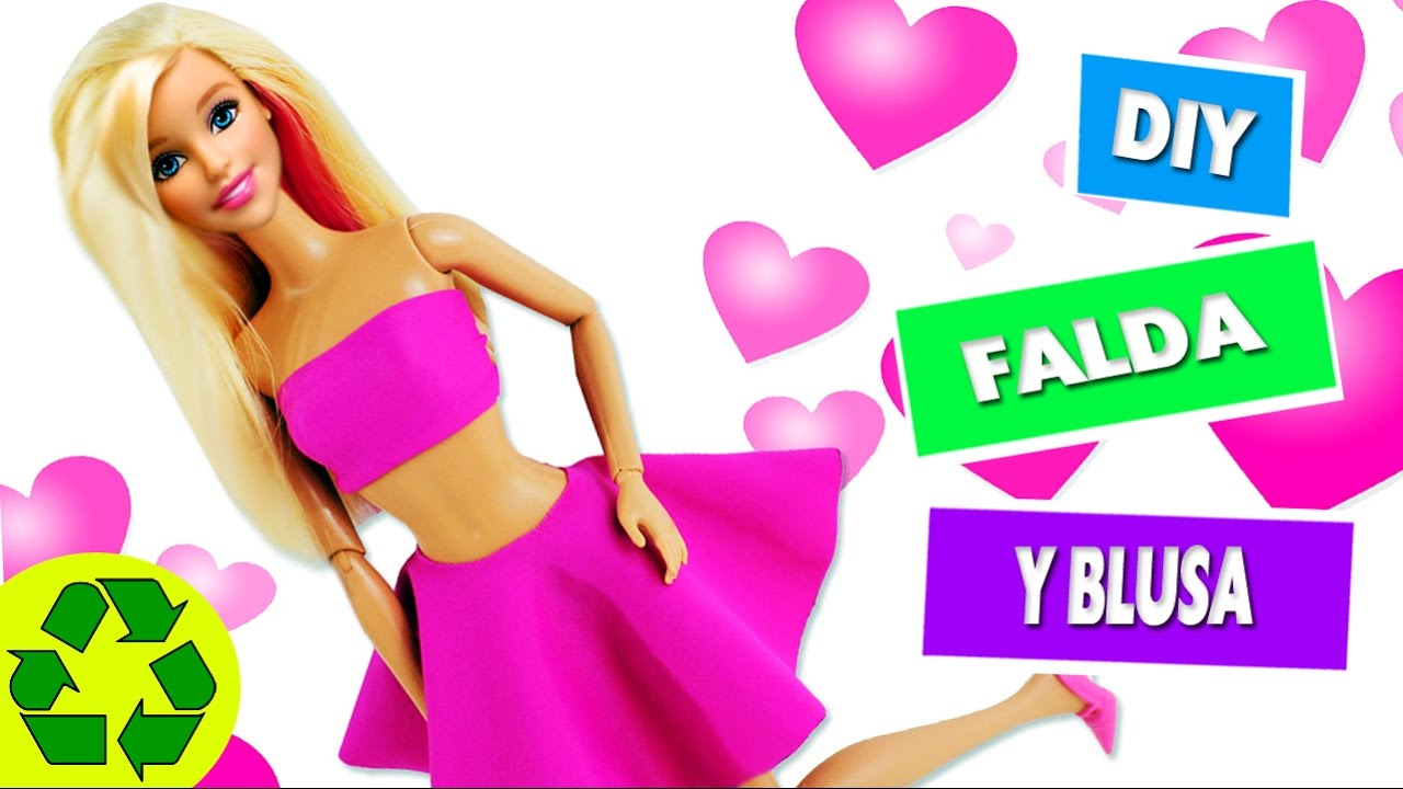 DIY | Ropa para muñecas: Falda y blusa sin coser ni pegar en 1 ...