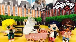 Miraculous Ladybug Marinette & Alya Babysitting LOL Surprise Doll Lil Sisters Poupées