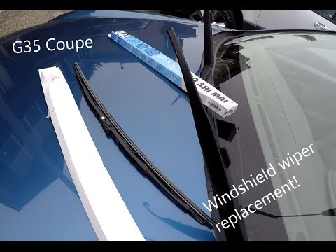 TUTORIAL: Infiniti G35 Coupe Windshield Wiper Replacement DIY