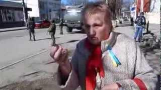 Крымчанка  российские СМИ обманывают людей в Крыму все спокойно!!!