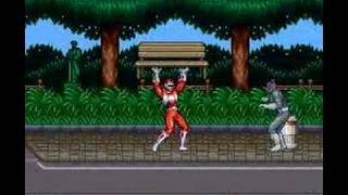 mighty morphin power rangers snes area 1