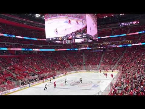 Red wings goal at the New Little Caesars Arena