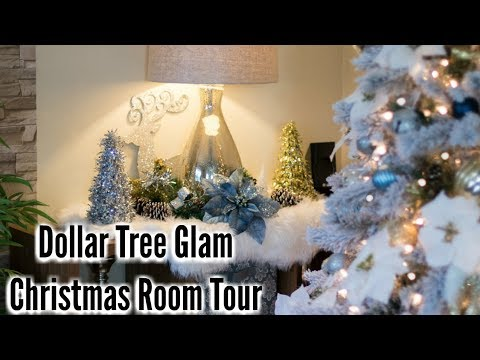 Glam Home Glam Dollar Tree Christmas Tour Family Room Christmas Decor 2017 Youtube