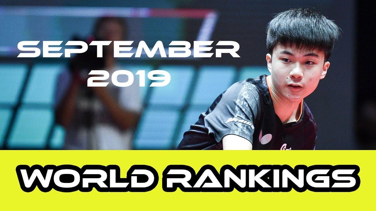 Table Tennis World Rankings | September 2019