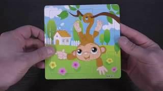 Children's puzzle - Monkey - Unpacking Parcel