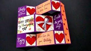 Special Birthday Greeting card for BOYFRIEND | Handmade Birthday card idea | tutorial