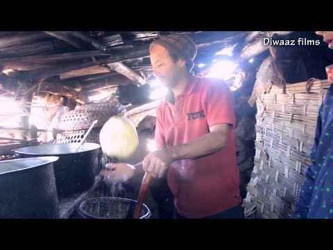 Traditional way of making MILK CHOCOLATE  in Nepal  from rural village side