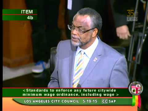 Councilmember Curren D  Price, Jr on Raising the Minimum Wage - Los Angeles