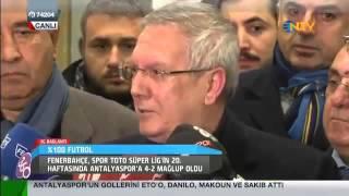 Aziz Yıldırım Antalyaspor 4-2 Fenerbahçe Maçı Sonrası Açıklama Yapıyor 5 Şubat 2016